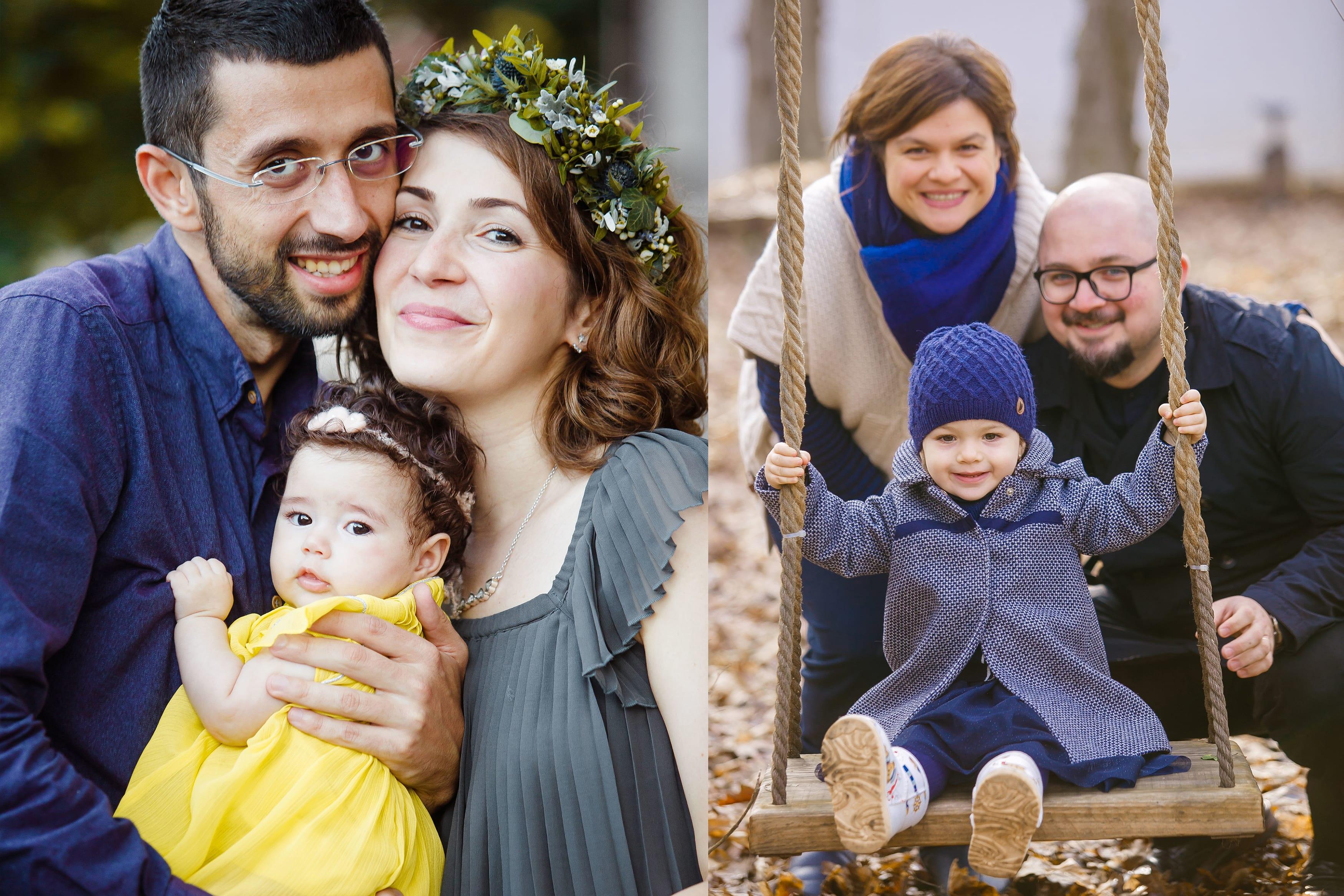 Familie mit Kindern beim Fotoshooting in Berlin bei Donna Bellini