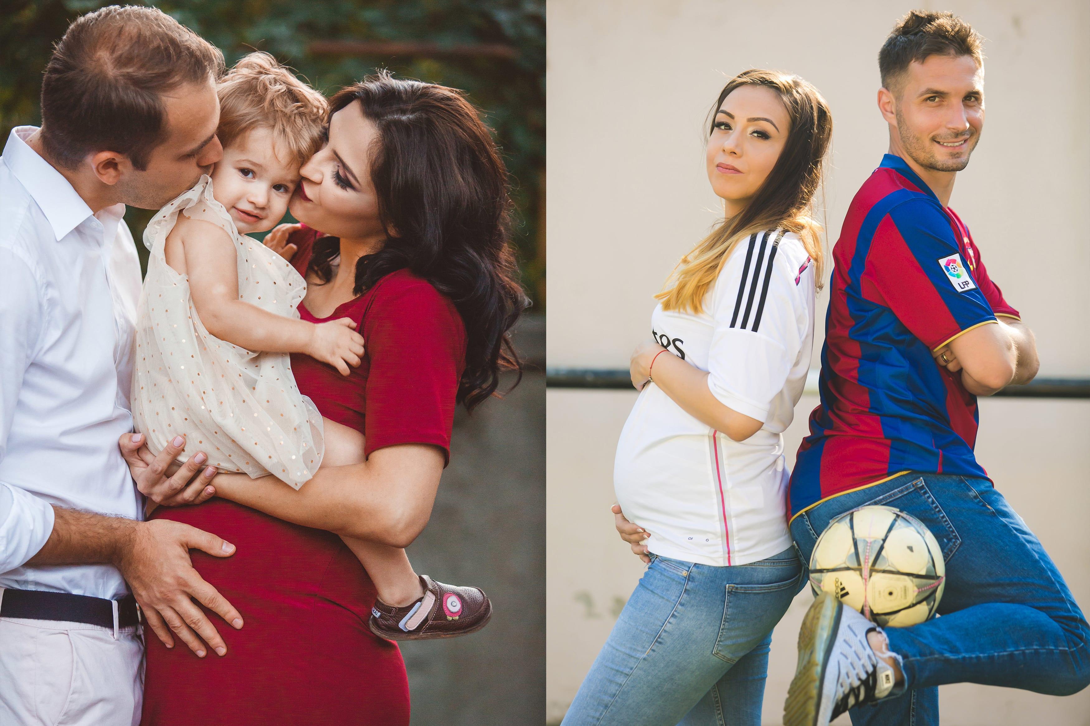 Junges Paar mit schwangerer Frau