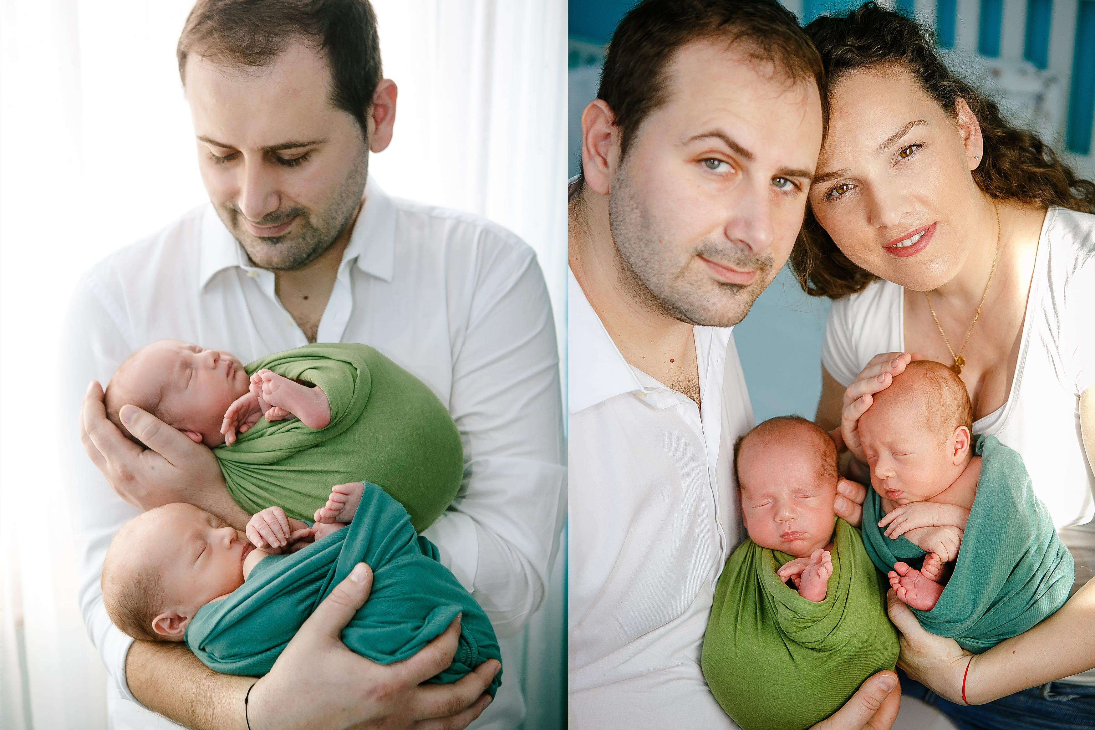 Natuerliches Fotoshooting fuer Neugeborene