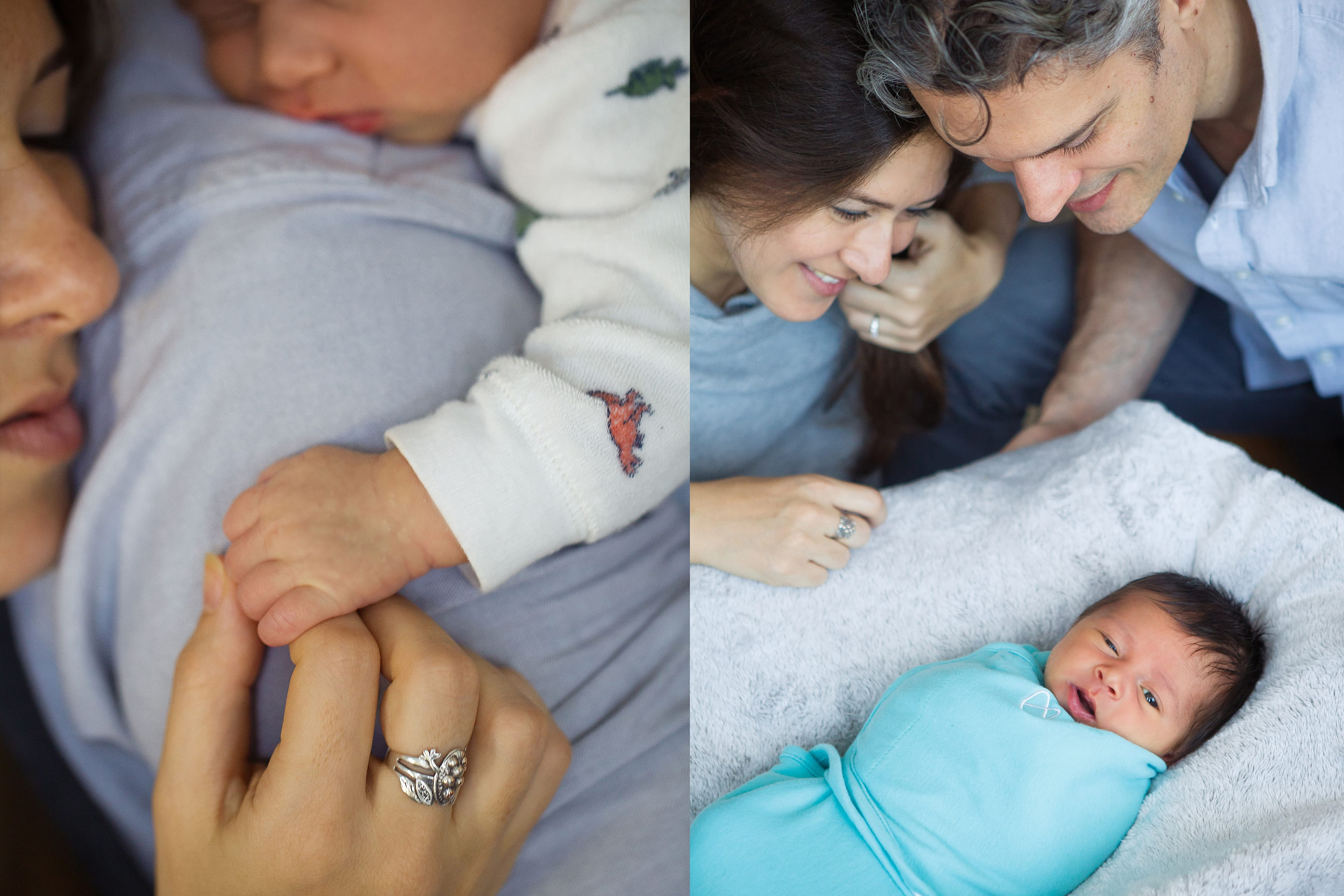 Romantisches Fotoshooting Neugeborene suess