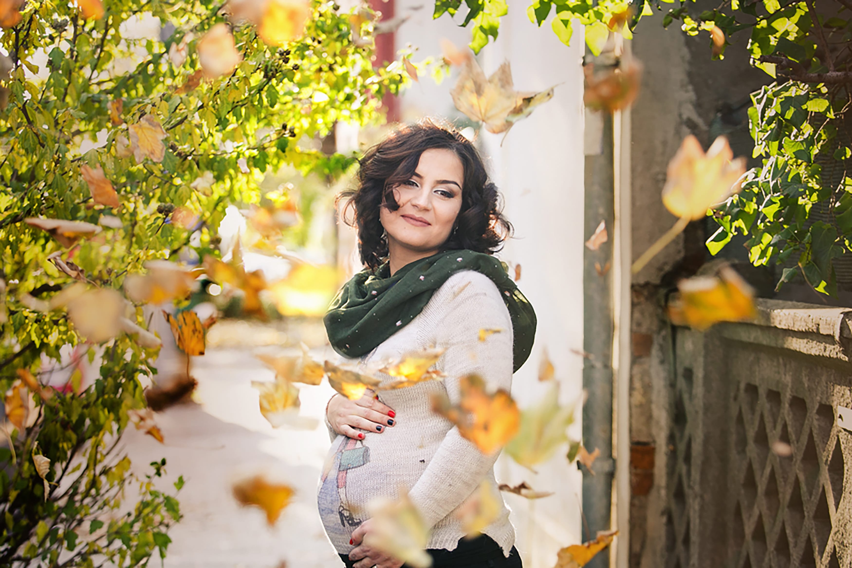 Schwangere Fotoshooting Herbst