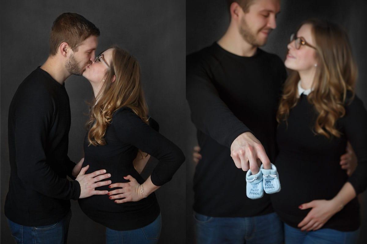 Paar kuesst sich beim Fotoshooting von Donna Bellini Berlin