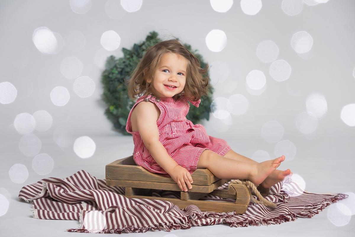 Weihnachtsfamilienfotoshooting im Donna Bellini Studio